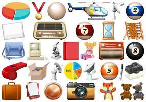 Conjunto de muitos objetos vetor