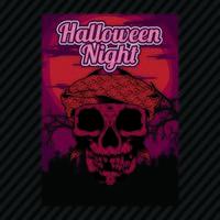 Panfleto de convite de festa de Halloween vetor