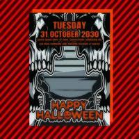Panfleto vertical de festa de Halloween vetor