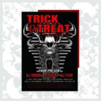 Panfleto de convite de festa de Halloween de música