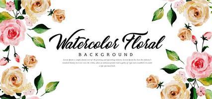 Fundo floral aquarela bonito vetor