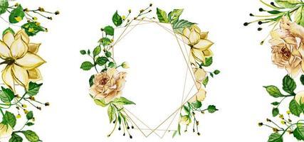 Flores Em Aquarela vetor