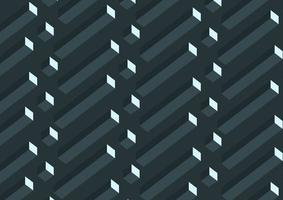 Padrão de cubos geométricos cinza 3D realista abstrato vetor