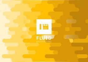 Abstrato amarelo fluido linhas arredondadas fundo estilo meio-tom vetor