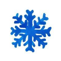 Floco de neve em aquarela de mão desenhada