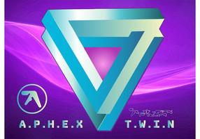 logotipo gêmeo do aphex