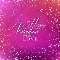 Valentim com cartão do amor vetor
