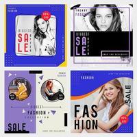 Pacote de brochura de venda de moda