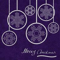 Cartão de bolas de Natal moderno