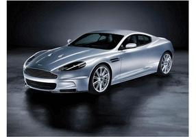 Prata Aston Martin DB9 vetor
