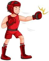 Um boxeador masculino vetor