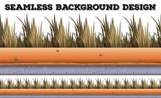 Plano de fundo sem emenda com grama seca