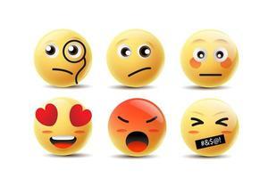Emoji Sentimentos Faces vetor