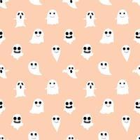 Fantasma laranja e Ghoul fundo sem emenda vetor