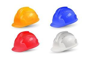Projeto de coleção de capacete realista vetor