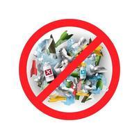 Sem lixo ou plástico em estilo realista
