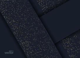 Pontos de ouro luminosos em papel de parede estilo 3D