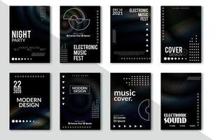 Design de cartaz do festival de música eletrônica vetor