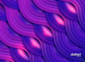 Cartaz de fluxo colorido moderno