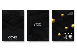Resumo de papel cortado design de capa de ouro