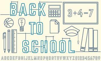 Cartaz abstrato volta às aulas vetor
