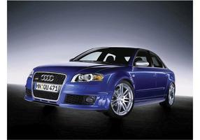 Audi azul 4 vetor