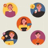 Pessoas conectadas através de dispositivos móveis