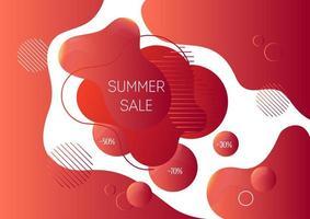Modelo de banner de publicidade de venda verão