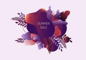 Banner de web de venda verão