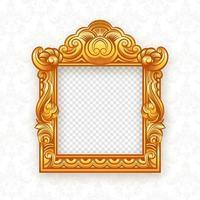 Frame de retrato temático tailandês do ouro vetor
