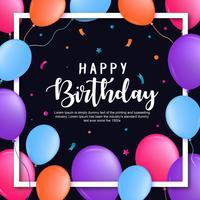 Feliz aniversario cartão vetor