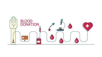 Fundo de conceito de doação de sangue vetor