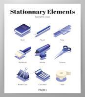 Pacote isométrico de elementos estacionários
