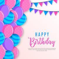 Feliz aniversário fundo vetor