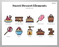 Pacote de sobremesas doces vetor