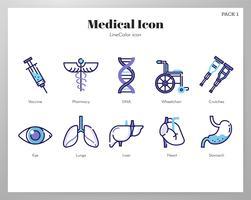 Ícones médicos vetor