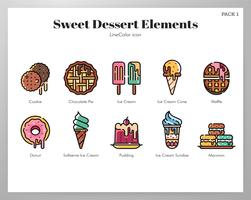 Elementos de sobremesa doce LineColor pack