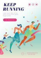 Cartaz de corrida de maratona vetor