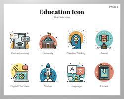 Pacote de ícones de educação vetor