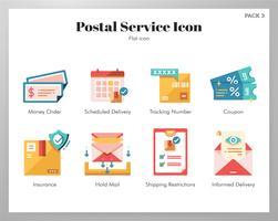 Pacote de ícones de serviço postal vetor