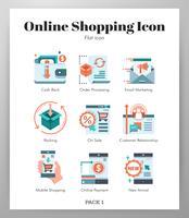 Conjunto de ícones de compras online