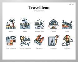 Pacote de ícones de viagens vetor