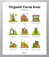 Ícones de fazenda orgânica vetor