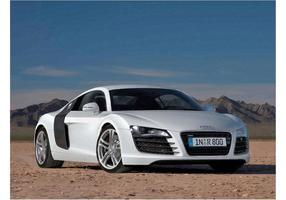 Audi branco R8 vetor