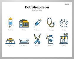Pacote de ícones de loja de animais