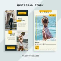 Modelo de história do Instagram de mídia social