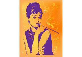 Imagem de Audrey Hepburn vetor