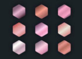 Coleção de gradientes de ouro rosa vetor
