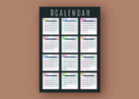 Modelo de calendário de negócios vetor