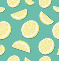 fatia de um limão sem costura padrões vetor